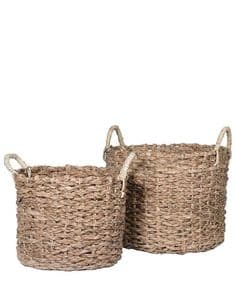 Really useful woven seagrass baskets